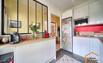 Nouvelle cuisine avec verrière (Montgeron 91230)
