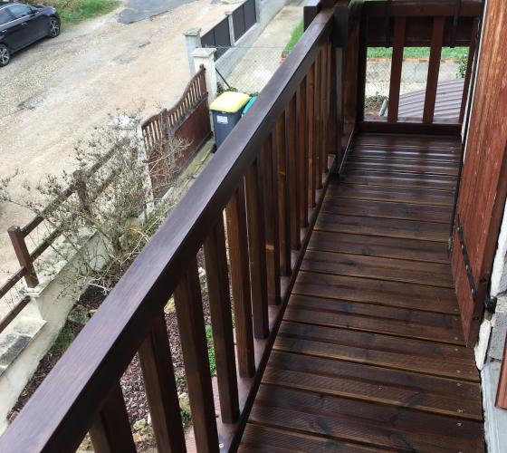 Renovation de balcon en bois à Yerres - 1
