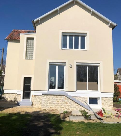Maison après pose de l'ITE (Yerres 91330)