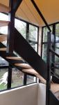 Nouvel escalier en bois bicolore (Montgeron 91230)