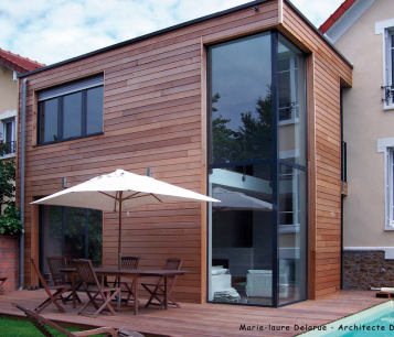 Extension maison bois