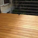 Rénovation de terrasse bois garde-corps métal